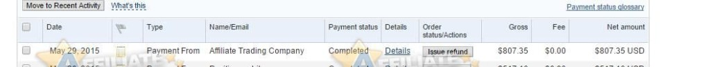 affiliate trading payment proof