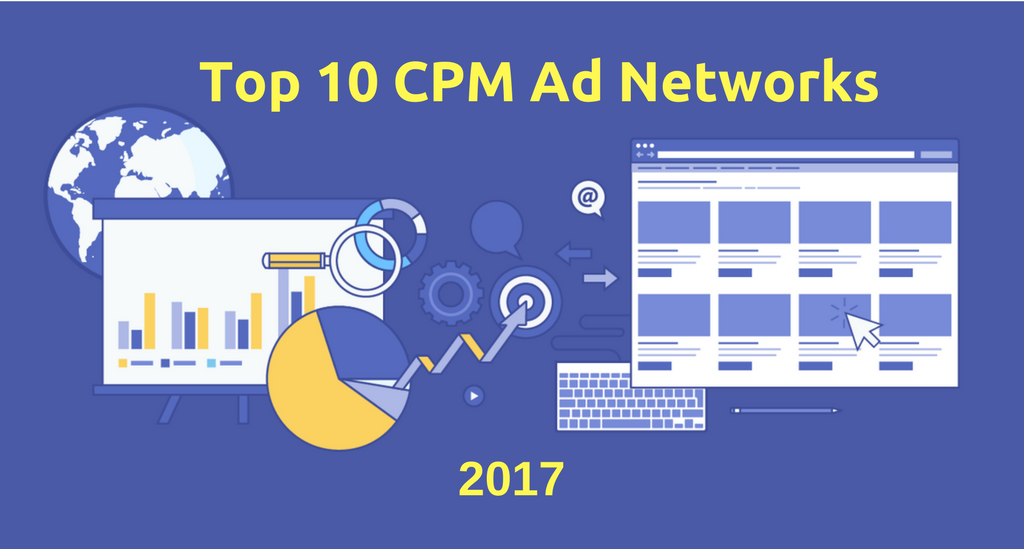 list of top and best cpm advertising networks