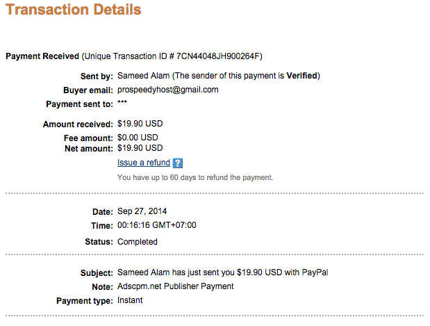 adscpm payment proof