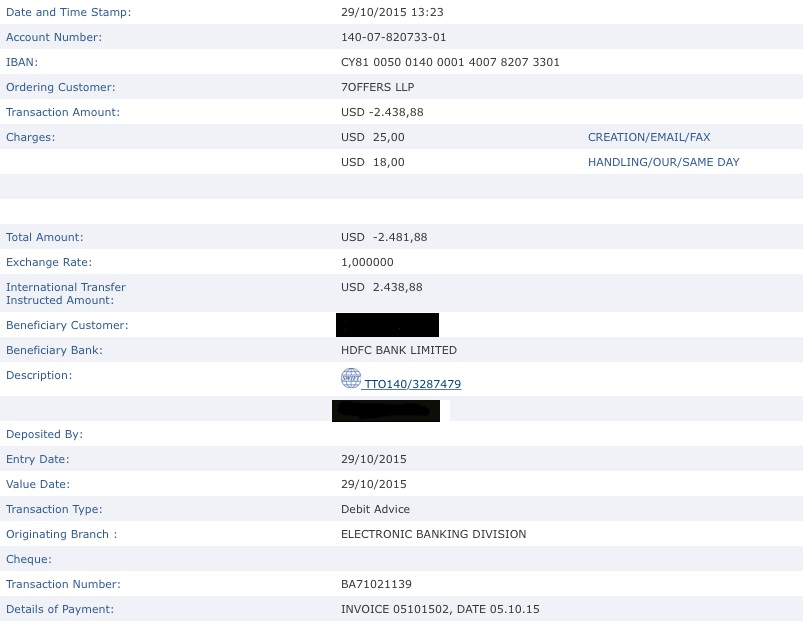 7offers Payment Proof