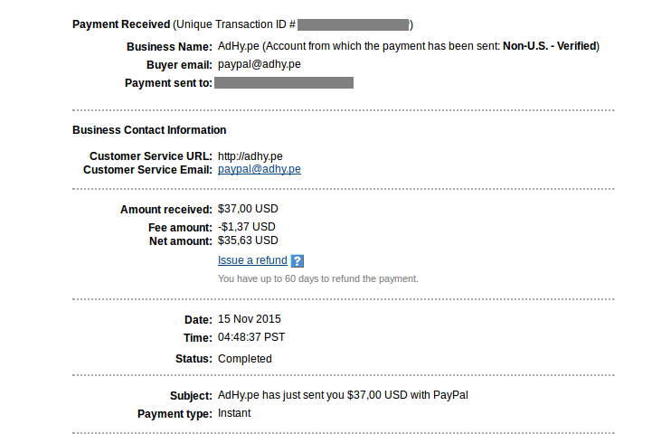 adhy.pe payment proof