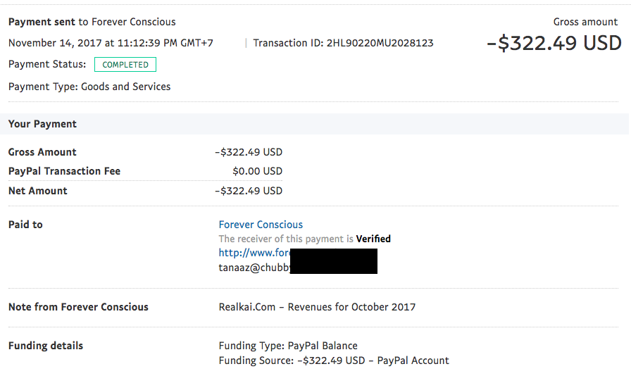 realkai ad network payment proof 1