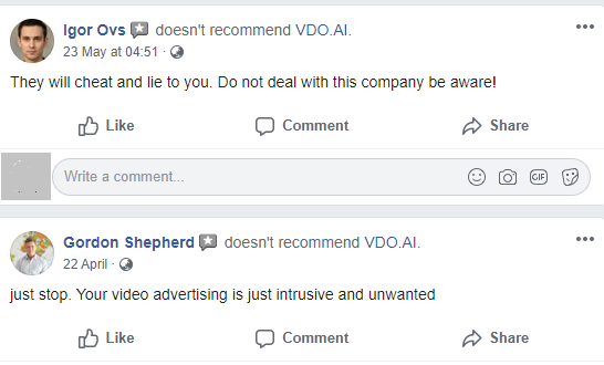 vdo.ai facebook review scam